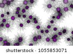light colored vector pattern... | Shutterstock .eps vector #1055853071