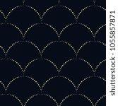 dot line japan wave pattern.... | Shutterstock . vector #1055857871