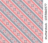 seamless vector pattern with... | Shutterstock .eps vector #1055860577