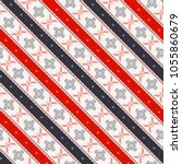 seamless vector pattern with... | Shutterstock .eps vector #1055860679