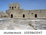 wall and tower of baku ateshgah ... | Shutterstock . vector #1055863547