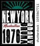 new york typography poster | Shutterstock .eps vector #1055867711