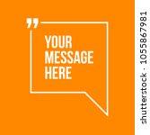 innovative vector quotation... | Shutterstock .eps vector #1055867981