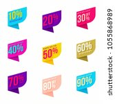 creative sale tags with... | Shutterstock .eps vector #1055868989