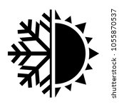 sun and snowflake symbol. hot... | Shutterstock .eps vector #1055870537