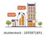 linear or line art style vector ... | Shutterstock .eps vector #1055871851