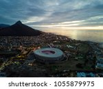 cape town and coast line  jetty.... | Shutterstock . vector #1055879975