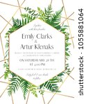 wedding invite  save the date... | Shutterstock .eps vector #1055881064