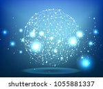 abstract technology space... | Shutterstock .eps vector #1055881337