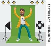 film director on the set.... | Shutterstock .eps vector #1055881931