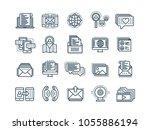 communication. social media....   Shutterstock .eps vector #1055886194