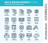 seo and app development. search ... | Shutterstock .eps vector #1055886221