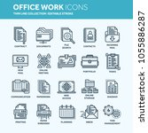 business and office work.... | Shutterstock .eps vector #1055886287