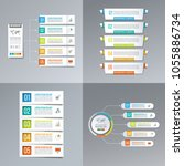 diagram infographic design... | Shutterstock .eps vector #1055886734