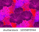 seamless pattern with trendy... | Shutterstock .eps vector #1055895944