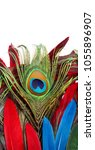 carnival peacock feathers.  | Shutterstock . vector #1055896907