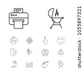 pack icons set with noodle ...