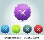 vector vintage frame design... | Shutterstock .eps vector #105589895