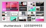 original presentation templates ... | Shutterstock .eps vector #1055899955