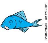 dead fish   a vector cartoon... | Shutterstock .eps vector #1055913284