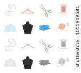 a man shirt  a mannequin  a...   Shutterstock .eps vector #1055919581