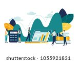 vector flat illustration ... | Shutterstock .eps vector #1055921831