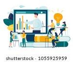 vector flat illustration ...   Shutterstock .eps vector #1055925959