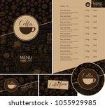 vector set of design elements... | Shutterstock .eps vector #1055929985