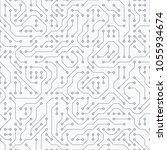 computer circuit board.... | Shutterstock .eps vector #1055934674