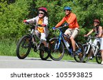 dynamic image of a family...   Shutterstock . vector #105593825