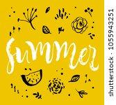 summer. floral calligraphy... | Shutterstock .eps vector #1055943251