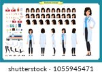 female doctor character... | Shutterstock .eps vector #1055945471