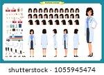 female doctor character... | Shutterstock .eps vector #1055945474