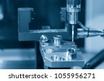 the cmm probe attach on the cnc ... | Shutterstock . vector #1055956271