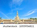 tourists  faithful and pilgrims ...   Shutterstock . vector #1055956811