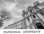 braga  portugal. facade of...   Shutterstock . vector #1055956979