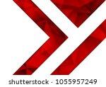 red geometric texture...   Shutterstock .eps vector #1055957249