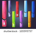 abstract numbered page banner... | Shutterstock .eps vector #105595757