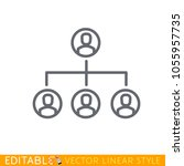 connected people social network ...   Shutterstock .eps vector #1055957735