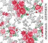 floral pattern in vector   Shutterstock .eps vector #1055958374