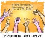 international youth day design...   Shutterstock .eps vector #1055959505