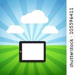 abstract style modern gadget... | Shutterstock .eps vector #105596411