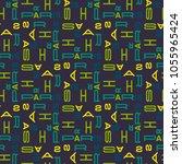 paris seamless pattern.... | Shutterstock . vector #1055965424