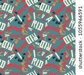 madrid creative pattern....   Shutterstock . vector #1055966591