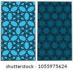 vector monochrome seamless... | Shutterstock .eps vector #1055975624