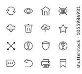 simple ui icons set