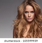 beautiful blonde woman | Shutterstock . vector #105599939