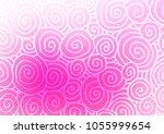 light pink vector doodle... | Shutterstock .eps vector #1055999654