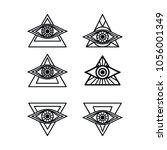 one eye sign symbol logo... | Shutterstock .eps vector #1056001349