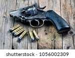 Old snubnose 45 pistol with six ...